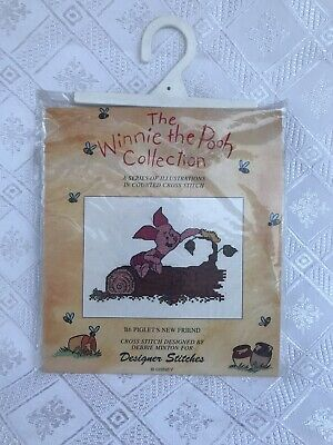 Disney Winnie the Pooh Counted Cross Stitch Collection PIGLET'S NEW FRIEND-CUTE!