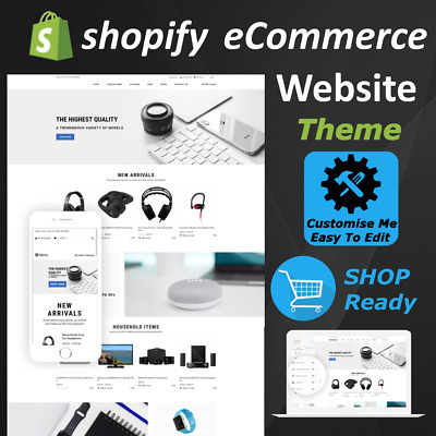 ⭐ eCommerce Website Store Shopify Theme Template - Start Your Online Businesses⭐