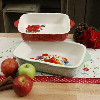 The Pioneer Woman Frost Bakeware Set, 2 Piece Dishwasher, Microwave, Oven Safe
