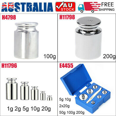 5/10/20/50/100/200G Precision Calibration Weights Kit Set For Balance Scale AU