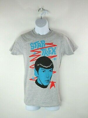 Star Trek Mr. Spock Graphic Unisex Size Small Gray S/S T-Shirt by We Love Fine