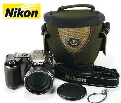 "Nikon COOLPIX L120 Digital Camera, 14.1 MP, 21x Optical Zoom, 3.0"" + Camera Bag"
