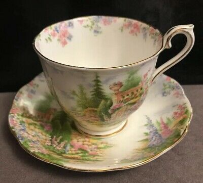 Royal Albert Kentish Rockery Cup And Saucer  1# Quality England Excellent