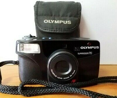 Olympus Superzoom 70 Zoom Lens 38-70mm Camera With Carry Case