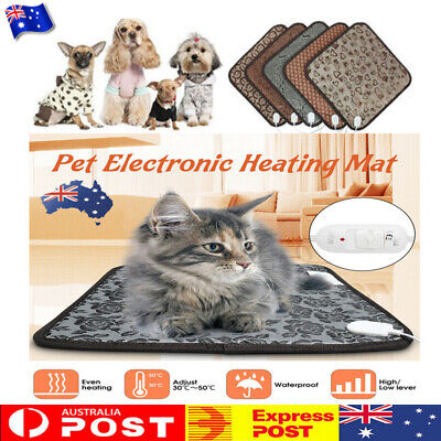 Pet Electric Heat Heated Heating Pad Mat Puppy Blanket Bed Dog Cat Bunny ON AU