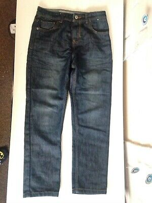 Boys Denim & Co Jeans 10 - 11 Years Adjustable Waistband Straight Leg Excellent