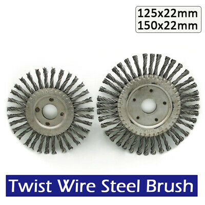 Flat Twist Knot Wire Wheel Brush 150mm /125MM 22mm Bore Deburring Angle Grinder