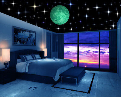 Glow In Dark Stars Moons Planets Wall Stickers 258 Decals