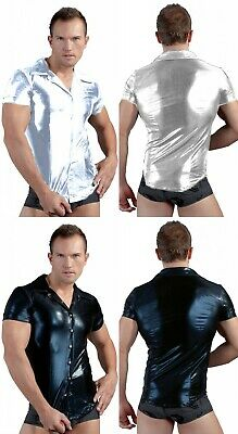 Sexy Gay men PVC Bondage T Shirt tank top clubwear GIMP costume Fetish male vest