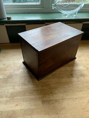 Small Antique Pine Box With Lift Out Tray