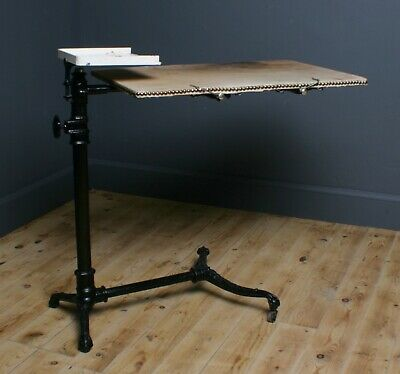 Attractive Antique Victorian Cast Iron Adjustable Bed Table, Mobility Aid