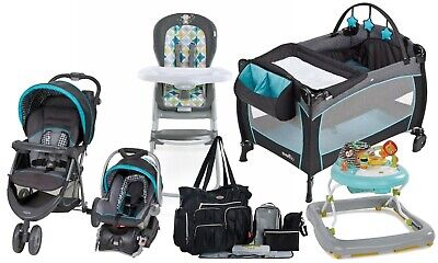 Baby Boy Stroller with Car Seat Travel System  Playard High Chair Walker Combo