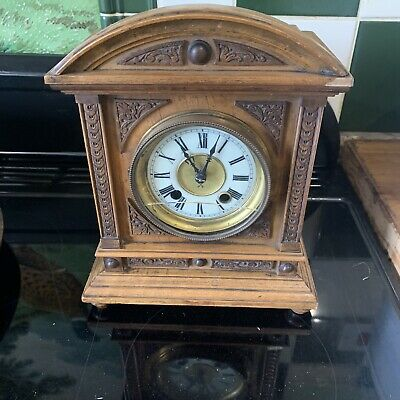 Junghans - HAC - Small Carved Mantel Clock For Restoration