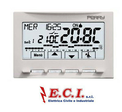 Perry 1CR CDS29 Thermostat Programmable Hebdomadaire Écran Tactile 230V