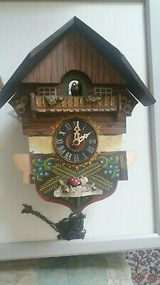 Vintage Musical Qaurter Hour Cuckoo clock spares or repair working condition