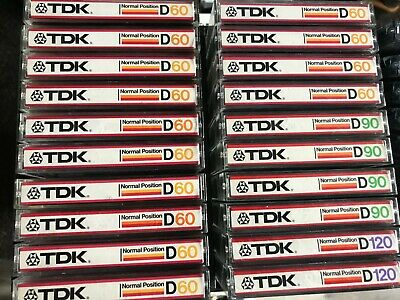 lot 20x TDK D 60 / 90 /120 CASSETTE  - Excellent condition - 1982 JAPAN