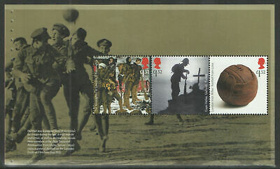 (PANE 3) GB QEII Stamps THE GREAT WAR 2015 Prestige Booklet Pane ex DY13