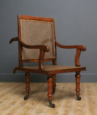 Attractive Antique Bergere Caned Sedan Chair Armchair