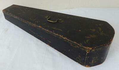 Antique Wooden Violin Case in Original Floral Paint Scheme Late 19th Century