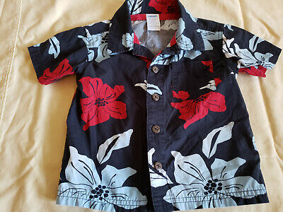 ~Great Preowned Gymboree Baby Boys Hawaiian Button Down Shirt Sz. 12-18 months~