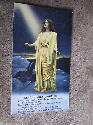 Early Bamforth Song series postcard - Lead Kindly Light - 1 - Religious theme