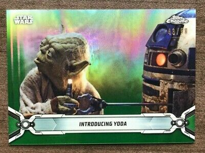 2019 Topps Star Wars Chrome Legacy Green Refractor Parallels /50~ Pick your Card