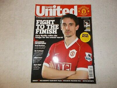 Manchester United Magazine Issue #178 May 2007 Gary Neville Ryan Giggs Poster