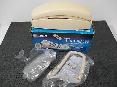 Vintage AT&T Trimline Telephone Ivory Touchtone Rotary Select Very Good Cond.