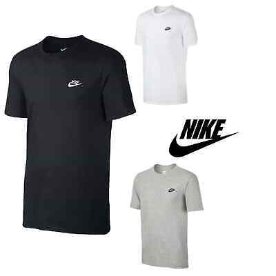 Nike Mens Embroidered Crew T-Shirt Casual Free Shipping
