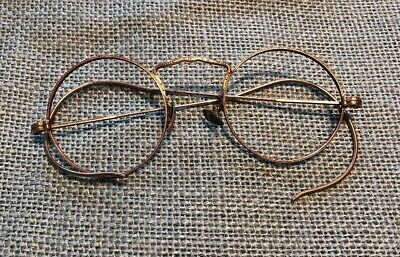 Vintage Antique Round 12K Gold Filled Windsor Eyeglasses Frames Spectacles