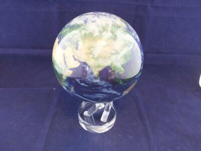 Mova Motion Globe Earth Satellite View with Clouds 4.5 inch Diameter.