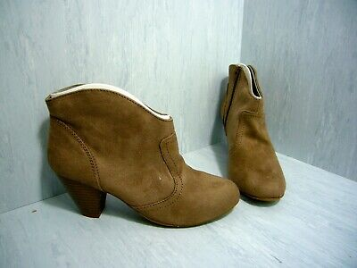 Candies Women/'s Einstein Lace Up Ankle Booties Taupe #73277 156D tz NEW