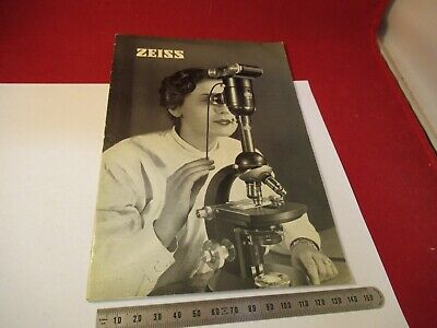 Vintage Zeiss Germany Manual Catalog Microscope Part As Pictured &9-Ft-78