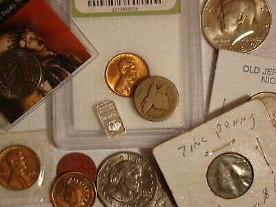 Junk Drawer Coin Lot 1858 Flying Eagle Cent 1904 Indian Head Cent 1957 Wheat X03