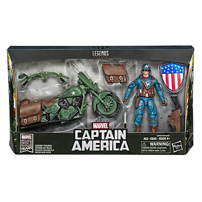 Marvel Legends Ultimate Captain America with Motorcycle New In Hand Sealed