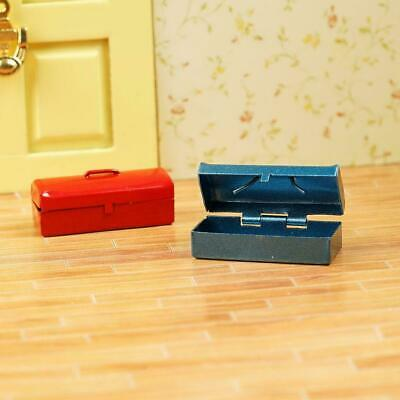 1//12 Dollhouse Miniature Wooden Box with Metal Tool Set S3F8