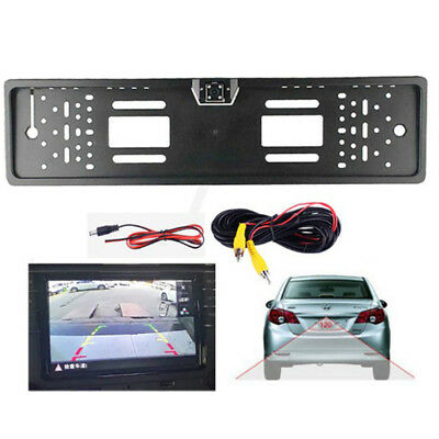 Waterproof 170° Eu Car License Plate Frame Rear View Camera Night Vision Cam OI