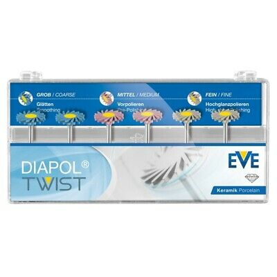Dental Eve Diapol Plus Twist RA 306 Porcelain Polishing Diamond System Ceramic.!