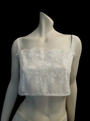 Antique, Edwardian, Cotton Lace Cropped Camisole or Bralette - Bust 81-84 cm