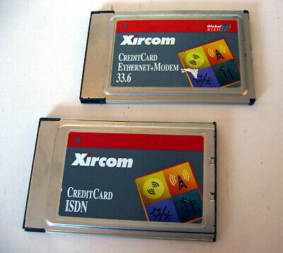 Xircom CEM33 33.6 PCMCIA Credit Card Ethernet Adapter+ ISDN Without LAN Dongle a