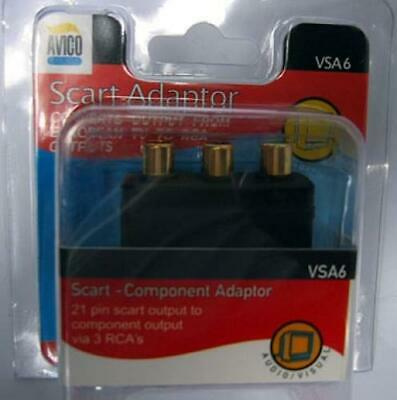 AVICO SCART to RCA Video Audio Converter Adaptor