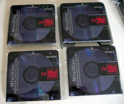 4x MiniDisc MD Recordable Mini Disc from Sony 74min