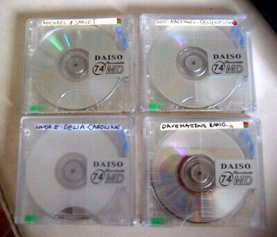 4x MiniDisc MD Recordable Mini Disc DAISO Brand 74min