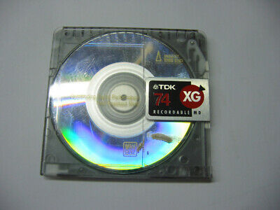 TDK 74 XG MD Minidisc Recordable Mini Disc Used 74 minutes