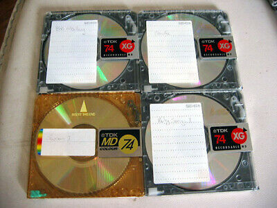 4x MiniDisc MD Recordable Mini Disc TDK Brand incl XG