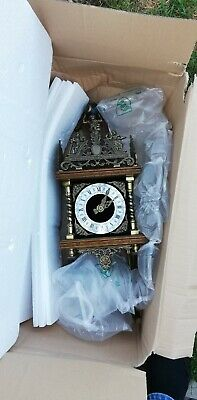 Chime Clock from Bavaria, Germany with solid heavy weights on chains