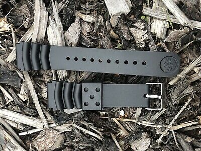 Seiko branded Z22 22mm Replacement Black Divers Watch Strap Fits SKX
