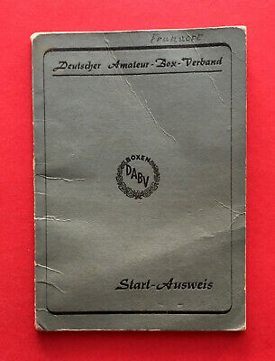 alter Start Ausweis Deutscher Amateur Box Verband Lichtbild SINGEN 1954 ( 56359