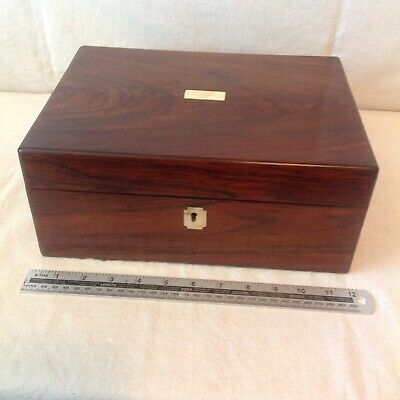 Handsome Antique Jewellery/Sewing Box In Original Condition