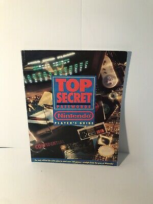 NINTENDO PLAYERS GUIDE TOP SECRET Password NES SNES GB Cheat Book 1992 VERY  GOOD
